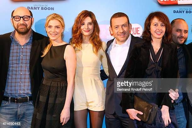 Cast of the movie Kad Merad Judith El Zein Alice Pol director and actor Dany Boon Valerie Bonneton and Jerome Commandeur attend the 'Supercondriaque'...