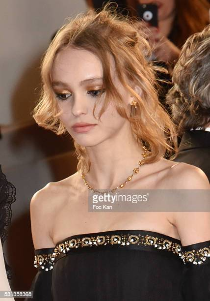 Cast of the movie 'La danseuse' Actress LilyRose Depp attends the 'I Daniel Blake' premiere durinthe 69th annual Cannes Film Festival at the Palais...