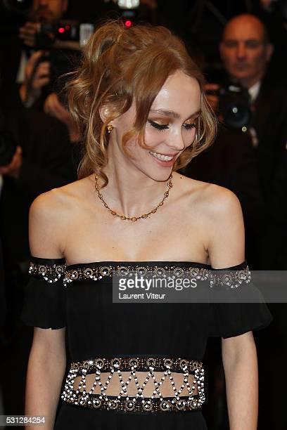 Cast of the movie 'La danseuse' LouisDo de Lencquesaing LilyRose Depp attends the 'I Daniel Blake' premiere during the 69th annual Cannes Film...