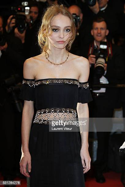 Cast of the movie 'La danseuse' LouisDo de Lencquesaing LilyRose Depp attends the 'I Daniel Blake' premiere during the 69th annual Cannes Film...