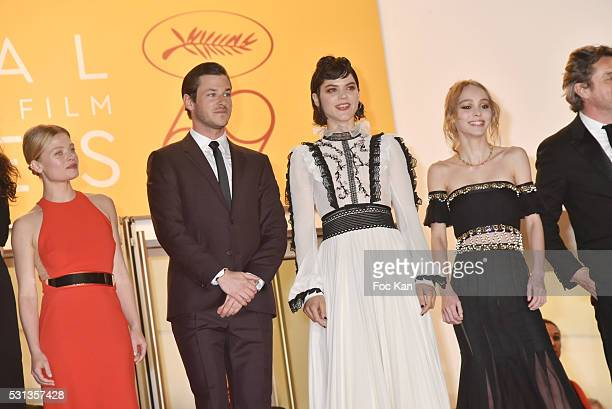 Cast of the movie 'La danseuse' Melanie Thierry Gaspard Ulliel Soko LilyRose Depp attend the 'I Daniel Blake' premiere during the 69th annual Cannes...