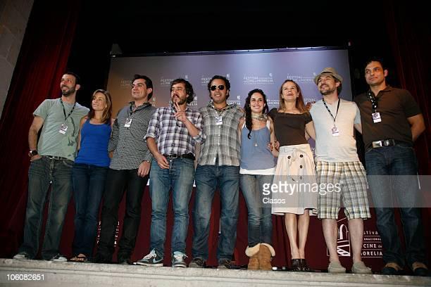 Cast of the movie La Otra Familia pose during the 8th Morelia International Film Festival on October 23, 2010 in Morelia, Mexico.