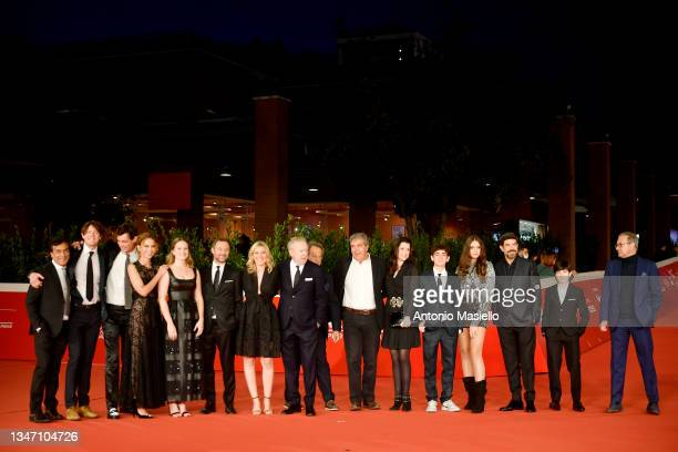 """Cast of the movie on the red carpet of the movie """"Promises"""" durin, g the 16th Rome Film Fest 2021 on October 17, 2021 in Rome, Italy."""