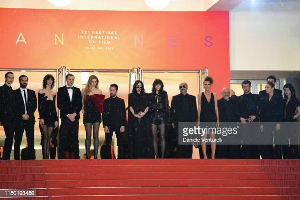 """Cast of the movie the screening of """"Lux Aeterna"""" during the 72nd annual Cannes Film Festival on May 18, 2019 in Cannes, France."""