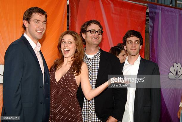 Cast of The Office during 2005 NBC Network All Star Celebration Arrivals at Century Club in Los Angeles California United States