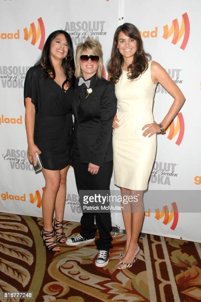 Cast of the Real L Word attends 21st Annual GLAAD Media Awards at Hyatt Regency Century Plaza Hotel on April 17 2010 in Los Angeles California
