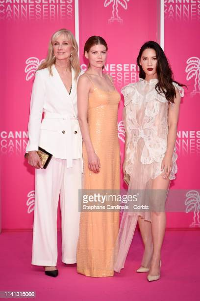 Cast of 'The Rook' serie actresses Joely Richardson Emma Greenwell and Olivia Munn attend the 2nd Canneseries International Series Festival Day Four...