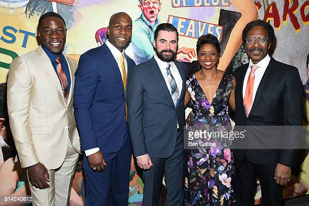 Cast of 'The Royale' McKinley Belcher III Khris Davis John Lavelle Montego Glover and Clarke Peters attend 'The Royale' Opening Night at the Mitzi E...