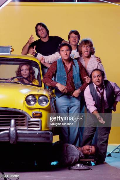 Cast of the television comedy Taxi in its first season clockwise from top Tony Danza Randall Carver Judd Hirsch Jeff Conaway Danny DeVito Andy...