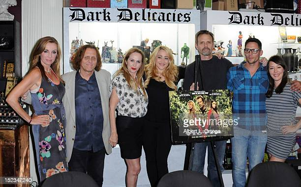 Cast of The Victim participates in the DVD Signing for Anchor Bay's The Victim Michael Biehn directorial debut held at Dark Delicacies on September...