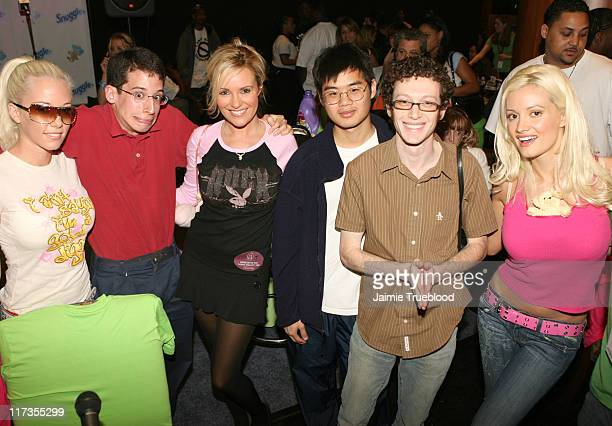 Cast of The WB's Beauty the Geek with the cast of The Girls Next Door