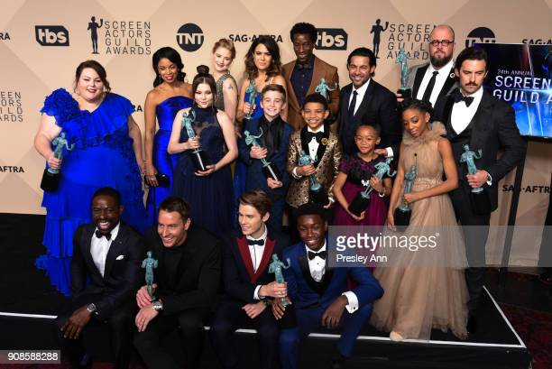 Cast of 'This Is Us' attends 24th Annual Screen Actors Guild Awards Press Room on January 21 2018 in Los Angeles California