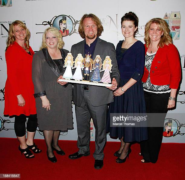 Cast of TLC's 'Sister Wives' Christine Brown Janelle Brown Kody Brown Robyn Brown and Meri Brown attend the Nevada Ballet Theatre's Production of...