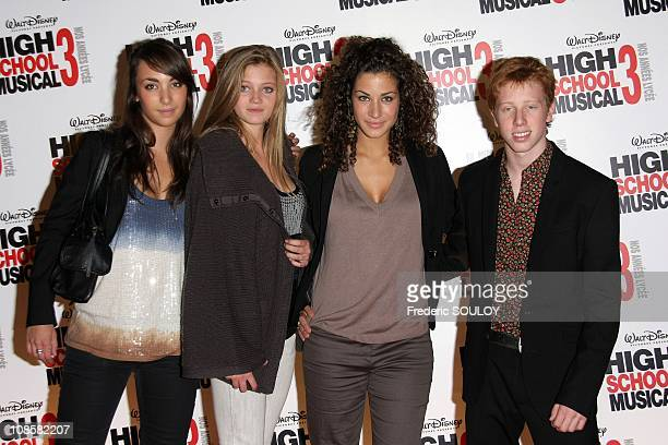 Cast of 'Trop la classe' on Disney Channel Marine Kailey Marieke Bouillette Manon Azem and Come Levin in Paris France on September 30 2008