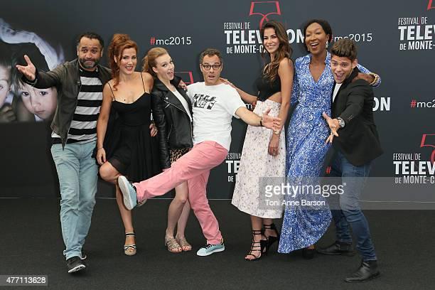 Cast of TV series Pep's Yannig Samot Noemie de Lattre Ingrid Juveneton Soren Prevost Catalina Denis Nadege BeaussonDiagne and Rayane Bensetti pose at...