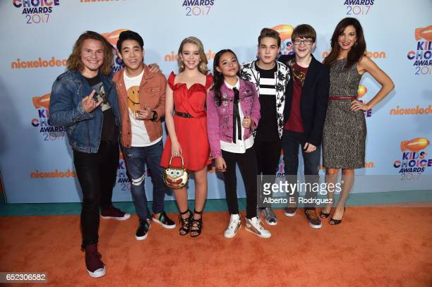 Cast of TV Show School of Rock Actors Tony Cavalero Lance Lim Jade Pettyjohn Breanna Yde Ricardo Hurtado Aidan Miner and Jama Williamson at...