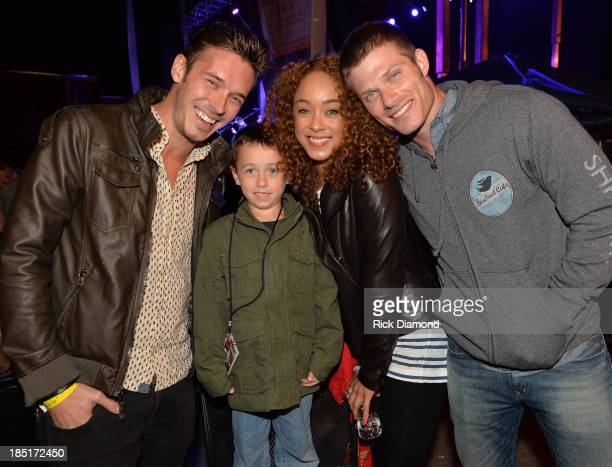 Cast of TV's Nashville Actors Sam Palladio Chaley Rose and Chris Carmack with 7 year old Kenny Smith who suffers from Crohns Colitis disease attends...