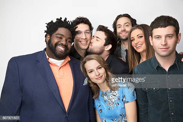 Cast of Undateable actors Ron Funches Rick Glassman Bridgit Mendler David Fynn Chris D'Elia Bianca Kajlich and Brent Morin are photographed for TV...