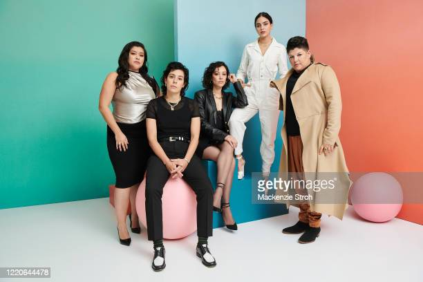 Cast of 'Vida' from left, Chelsea Rendon, Roberta Colindrez, Mishel Prada, Melissa Barrera and Ser Anzoategui are photographed for Entertainment...
