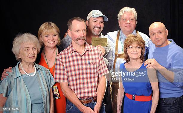 Cast of Willy Wonka Diana Sowle Julie Dawn Cole Peter Ostrum Michael Bollner Denise Nickerson and Paris Themmen at the The Hollywood Show held at...