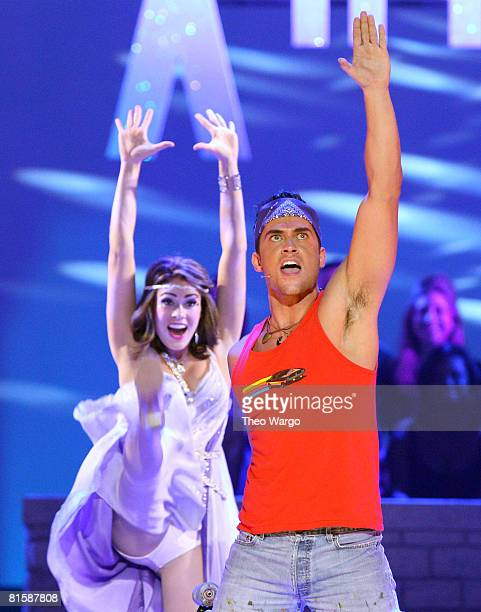 Cast of 'Xanadu' perform on stage during the 62nd Annual Tony Awards at Radio City Music Hall on June 15 2008 in New York City