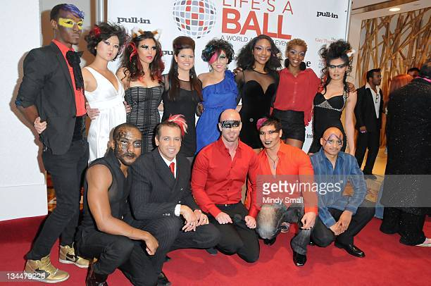 Cast of Zumanity attends Nevada AIDS Project's Life's A Ball A Celebration Of Life And Journey Towards The Cure at Club Nikki At The Tropicana on...