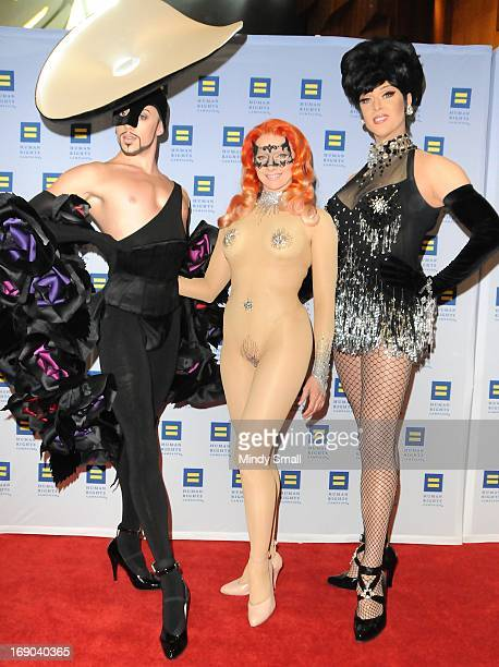 Cast of Zumanity attends the 8th Annual Human Rights Campaign Dinner Gala at the Aria Resort Casino on May 18 2013 in Las Vegas Nevada