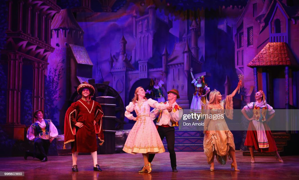 Cast perform during a media call for Sleeping Beauty - A
