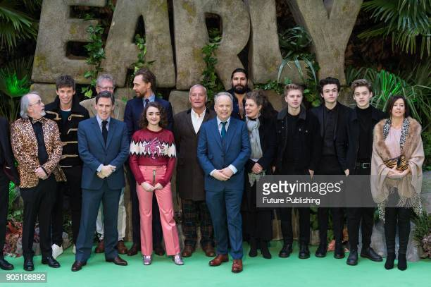 Cast poses for a group photo with director Nick Park Aardman producers and New Hope Club band at the world film premiere of 'Early Man' at the BFI...