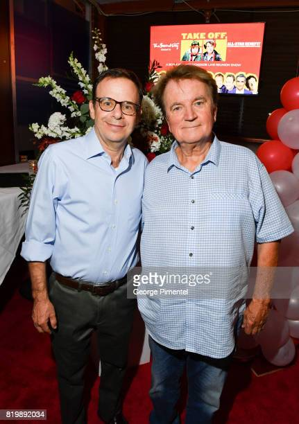 SCTV cast Rick Moranis and Dave Thomas attend the Dave Thomas And The Second City Present 'Take Off EH' An AllStar Benefit after party for Jake...