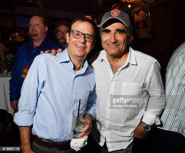 SCTV cast Rick Moranis and Eugene Levy attend the Dave Thomas And The Second City Present 'Take Off EH' An AllStar Benefit after party for Jake...