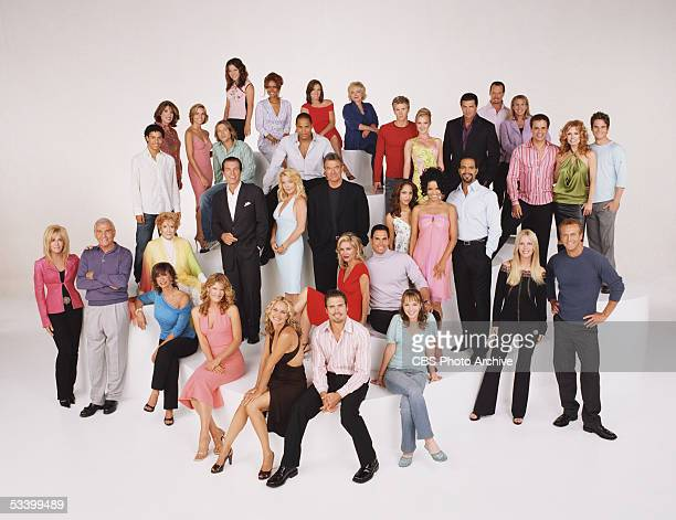 First row left to right seated Jess Walton Michelle Stafford Sharon Case Joshua Morrow Camryn Grimes Second row left to right Joan van Arkand Jerry...