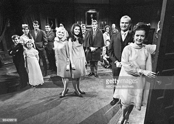 SHADOWS cast shot 6/27/67 Pictured foreground from left right David Henesy Kathryn Leigh Scott Sharon Smyth Anthony George Robert Gerringer Nancy...