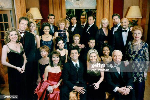 Cast shot at the Crystal Ball - 12/8/98 Pictured, back row: Cameron Mathison, Meg Mundy, Vincent Irizarry, Michael Nader, James Kiberd, Marcy Walker,...