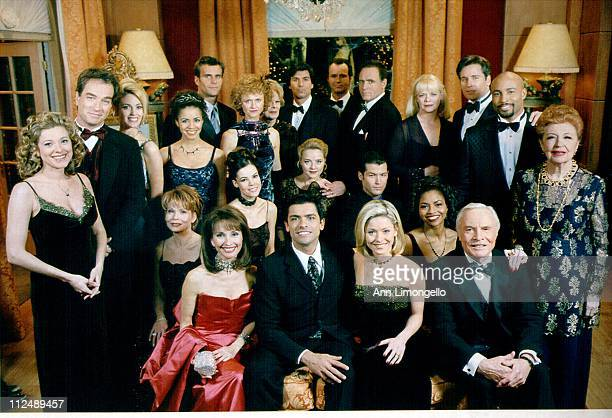 Cast shot at the Crystal Ball - 12/8/98Pictured, back row: Cameron Mathison, Meg Mundy, Vincent Irizarry, Michael Nader, James Kiberd, Marcy Walker,...