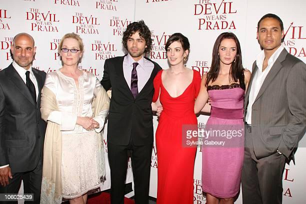 Cast; Stanley Tucci, Meryl Streep, Adrian Grenier, Anne Hathaway, Emily Blunt and Daniel Sunjata