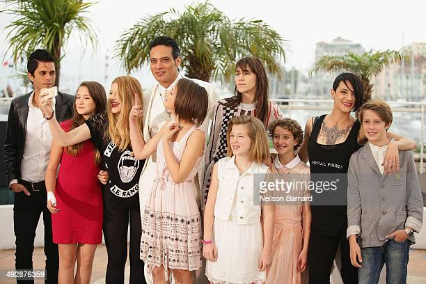 Cast with actors Gabriel Garko Charlotte Gainsbourg Giulia Salerno director Asia Argento and actor Andrea Pittorino attend the 'Misunderstood'...