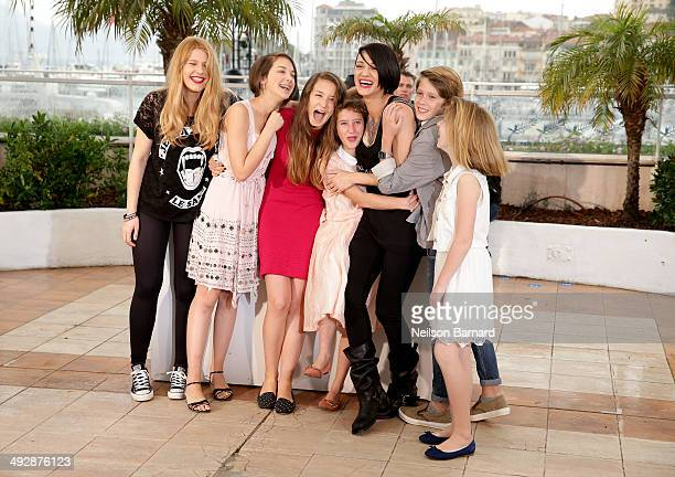 Cast with actress Giulia Salerno director Asia Argento and actor Andrea Pittorino attend the 'Misunderstood' photocall at the 67th Annual Cannes Film...