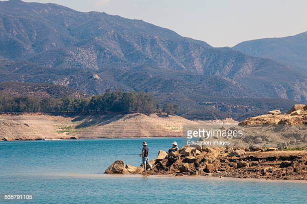 Castaic Lake a terminus of the West Branch California Aqueduct is at 55 Percent of capacity during Californias declared drought State of Emergency...