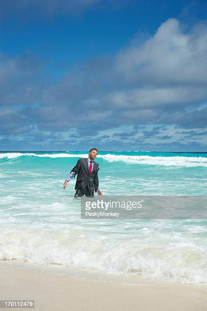 Castaway Businessman Washes Ashore in Tropical Waves