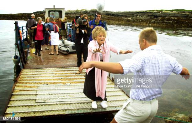 BBC Castaway contestant Ben Fogle runs to greet his mother Julia who he has not seen for seven months as the Castaways have their first family visit...