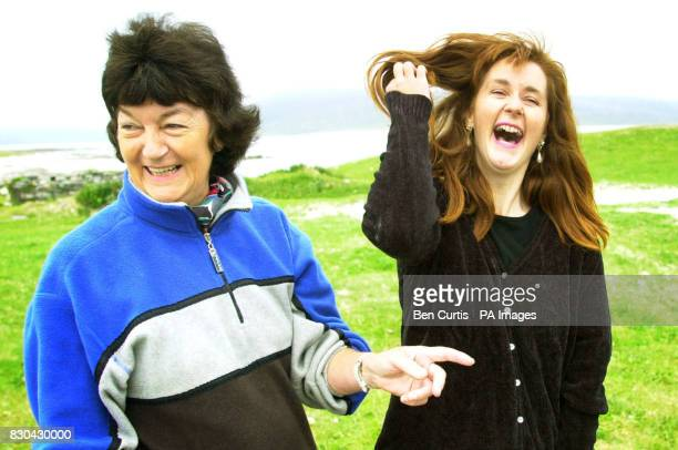 BBC Castaway Julie Lowe and her mother Joy who she has not seen for seven months share a joke as the Castaways have their first family visit on the...