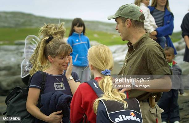 BBC Castaway Mike Laird's twin sister Ashley Fairlie is tearful as she and her daughter Ilona visit Mike for the first time in seven months as the...