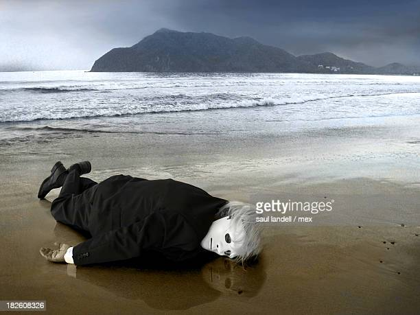 castaway - lying on front stock pictures, royalty-free photos & images