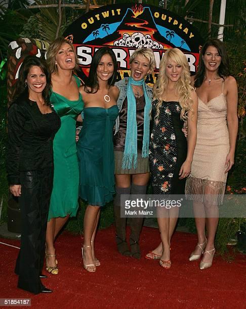 Castaways Lisa Keiffer Ami Cusack Julie Berry Mia Galeotalanza Dolly Nelly and Leann Slaby attends the finale for Survivor Vanuatu Islands of Fire at...