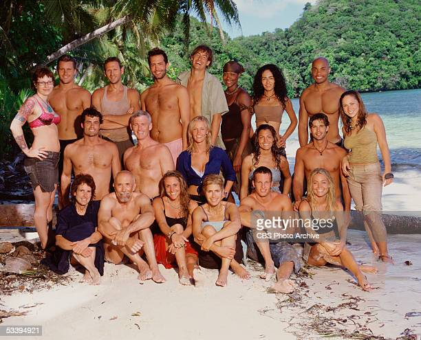 20 castaways set to participate in SURVIVOR PALAU premiering Thursday February 17 on the CBS Television Network Back row Angie Jakusz Jonathan Libby...