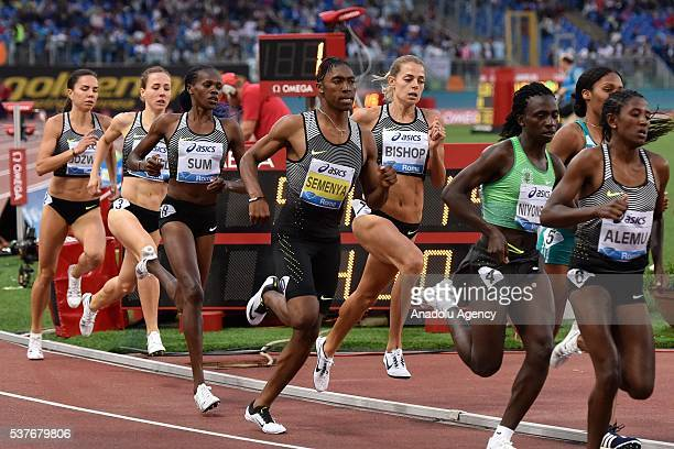 Caste Semenia of the RSA competes during the Women 800m event at the Golden Gala 5th meeting of IAAF Diamond League 2016 at the Olympic Stadium in...