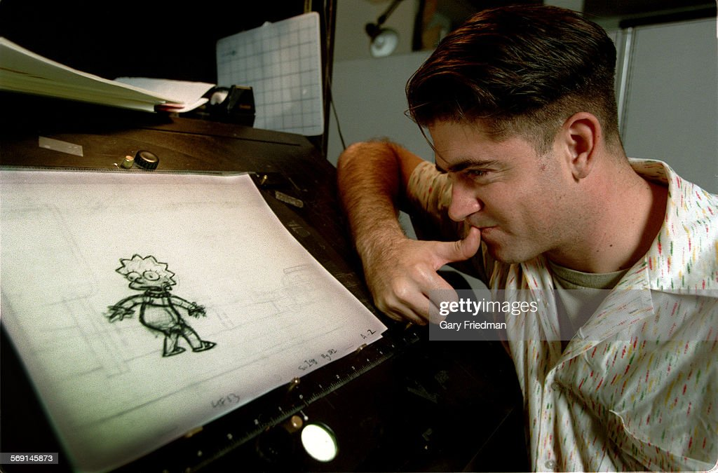 CA.Stefani.#1.GF. ERIC STEFANI, formely of rock group No Doubt, and is now an animator, looks at one : News Photo