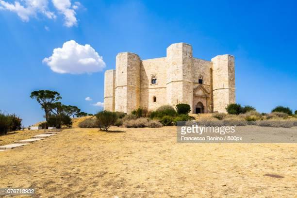 castel del monte, apulia, italy - castel del monte foto e immagini stock