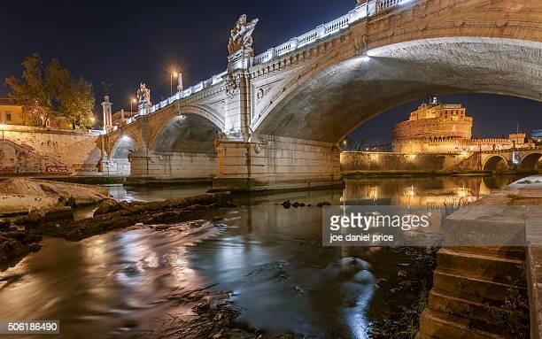 Castel Sant Angelo through Ponte Sant Angelo, Rome, Italy
